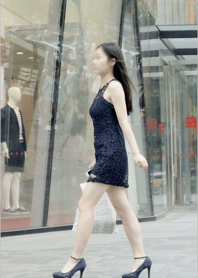 镂空半身裙_深蓝镂空包臀裙, 高跟美腿在前行