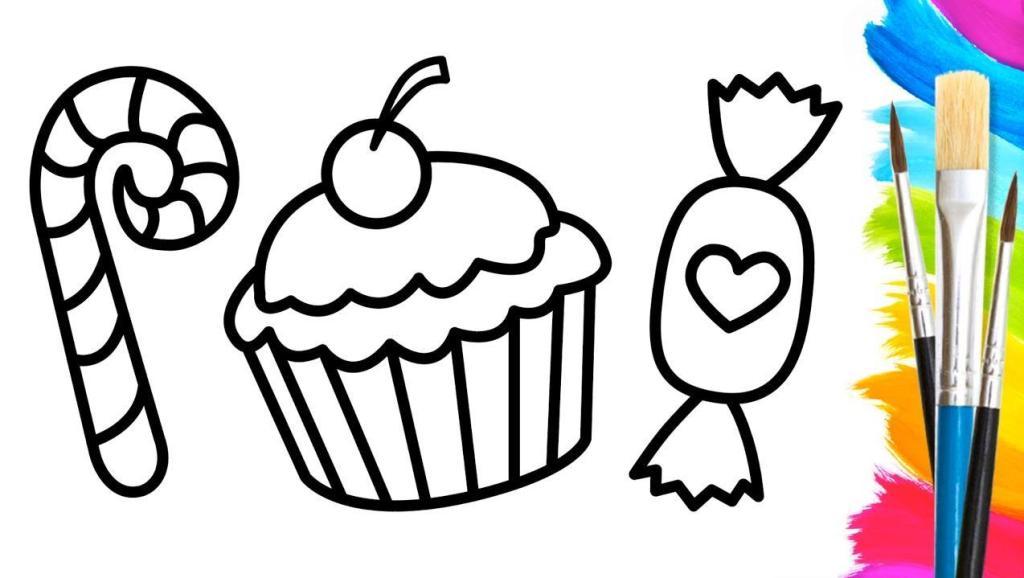 蛋糕简笔画大全可爱