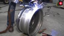 汽车轮毂严重开裂,老师傅是这样修复的,真让人大开眼界