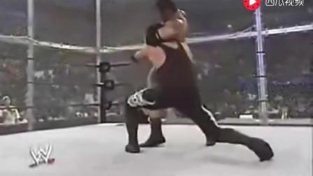WWE经典: 地狱牢笼赛 送葬者VS野兽巴蒂斯塔RAW,真是以命相搏