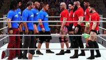 WWE壮汉争霸,几十个大汉同台PK,看看谁最猛!