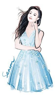 女明星的手绘二次元造型, 刘诗诗在清纯我都不扶, 我只是服赵丽颖!
