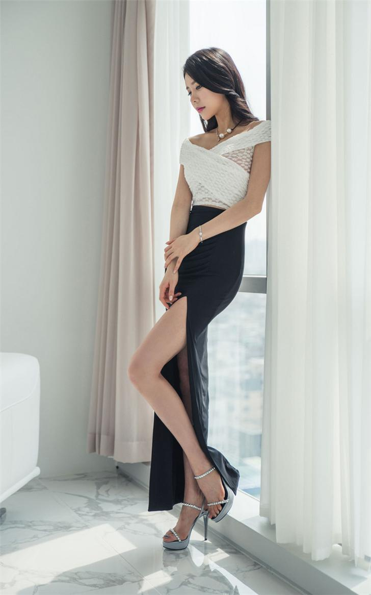 时尚半身裙_时尚半身裙, 开裤的设计让你美的坦荡荡