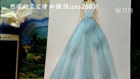 服装设计手绘设计稿教程视频三图片