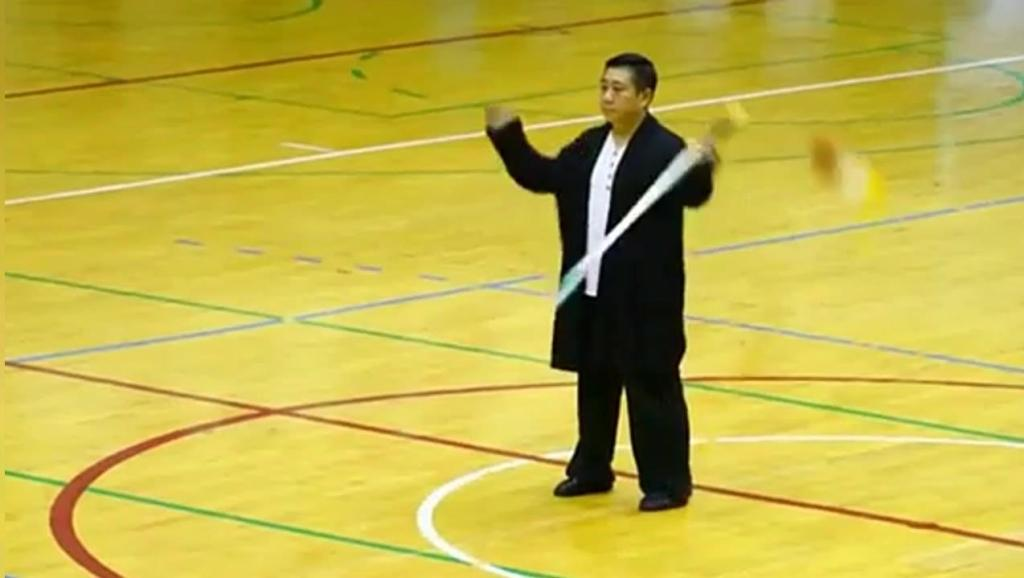 中华武术源远流长!太极大师表演罕见的太极剑法,动静结合以柔克刚!