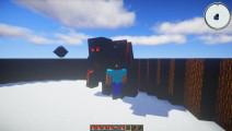 我的世界1个黑曜石巨人VS100个雪人王