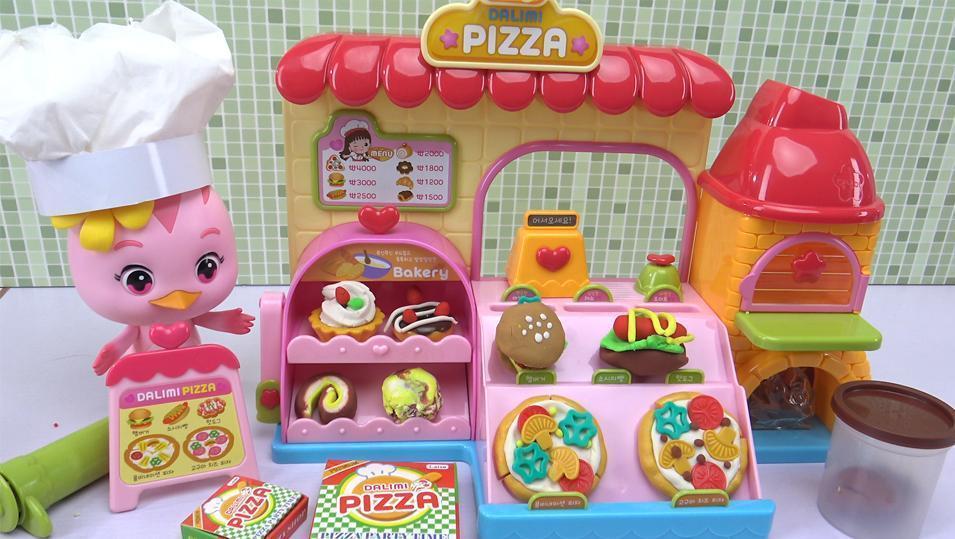 萌鸡小队彩泥披萨店