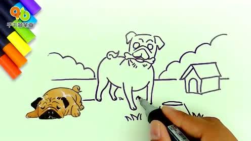 橡皮泥制作小狗 哈巴狗 一只哈巴狗 2016 玩具视频