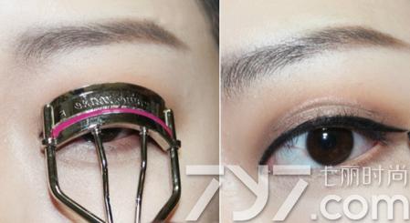单眼皮眼妆的画法步骤图片 自然双眼皮效果眼妆