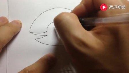 儿童简笔画系列鲸鱼的画