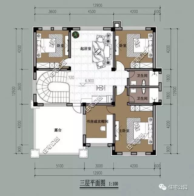 农村复式楼户型图90平建房设计图展示图片