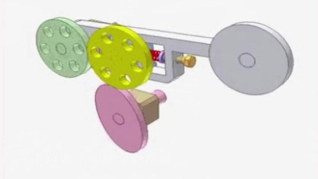 直观的机械原理,这是一个设计巧妙的摩擦滚柱传动机构