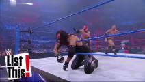 WWE 世上最不公平的比赛 侏儒的对手2米多高 残疾人扛着大腿上台