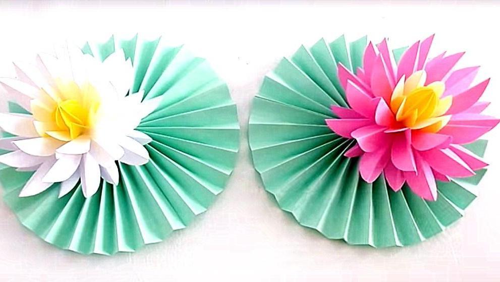 又漂亮的折纸图解步骤 打开 手工折纸视频教程,简单漂亮的手工荷花,莲
