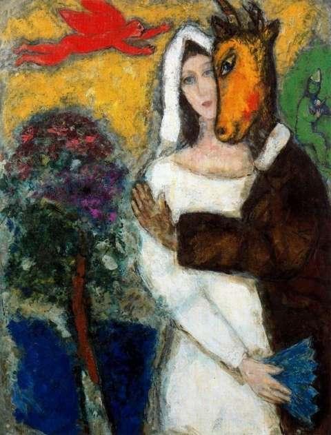 夏加尔的油画作品