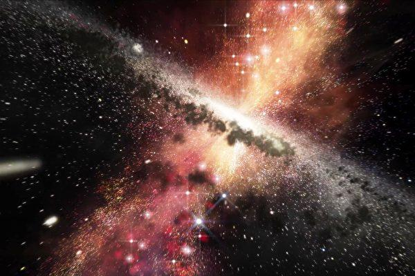 科学家发现: 一颗距离地球6亿光年的超级黑洞, 喷发物产生新星体