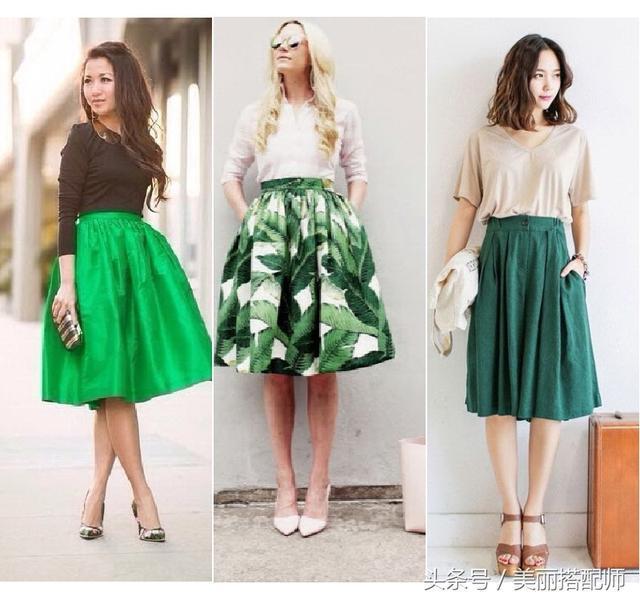 半身裙如何搭配_遮肉显瘦显腿长! 神奇半身裙如何巧搭配, 拯救那些矮胖小粗腿