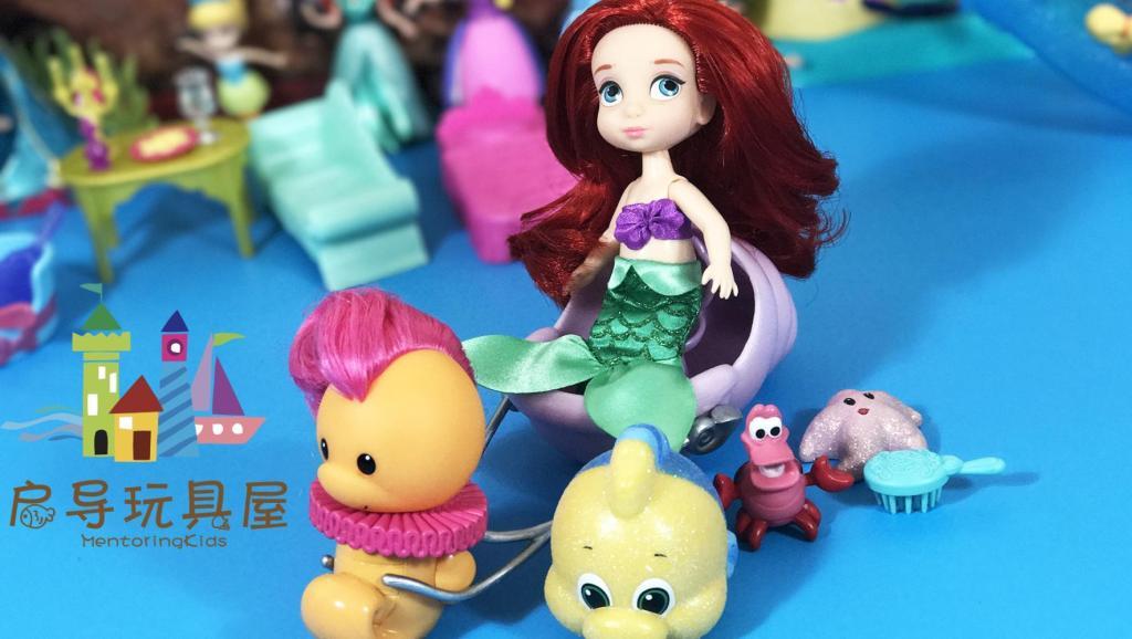 打开 打开 芭比娃娃迪士尼公主可爱版q版小美人鱼爱丽儿 芭比美人鱼