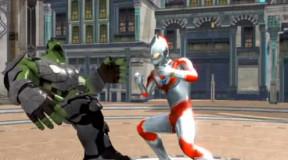 奥特曼超级动画 绿巨人变身石头怪对抗初代奥特曼