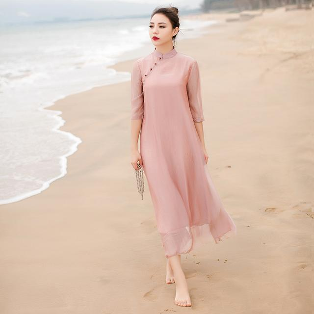 """姑娘不要穿韩版了, """"改良汉服""""才是17年的流行趋势, 优雅大方 14"""