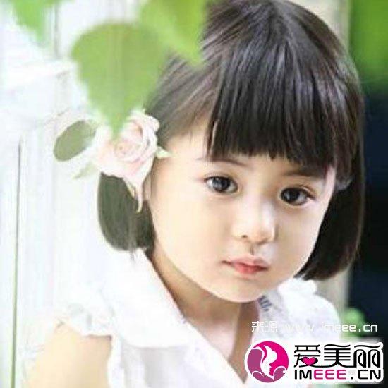 女宝宝短发发型图片 萌呆甜美儿童发型必备款