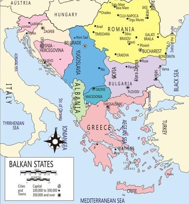 """南欧三大半岛之一, 被称为""""欧洲的火药库"""", 世界大战就跟它有关图片"""