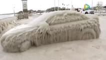 围观零下50度被冻住的汽车, 解冻后亮了!