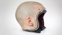 奇葩光头头盔,带上秒变光头,网友: 晚上反光吗?