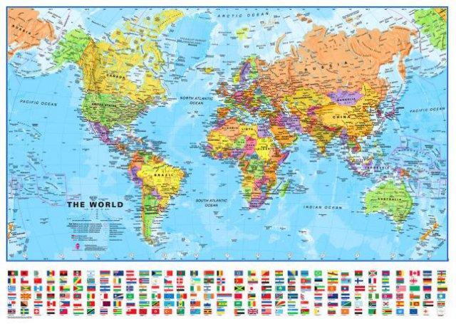 但实际上前者的面积几乎是后者的两倍;非洲看起来也和格陵兰岛的大小