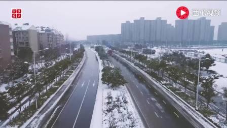 2018年西岗雪景航拍(南京栖霞)