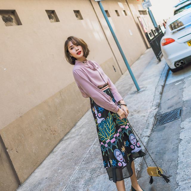 半身裙百褶裙_浪漫随性的网纱雪纺半身裙, 比百褶裙更飘逸唯美