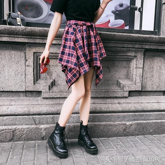 不规则半身裙_短款不规则半身裙, 优雅好看, 配尖头鞋穿出气质女人味