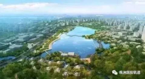 日月湖片区集生态,空间景观,防灾于一体,保护性利用稀缺山水自然资源
