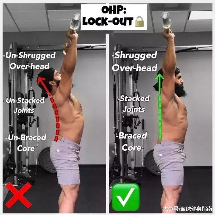 肩上王牌动作――肩上推举(图38)