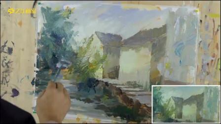 打开 [水粉]杭州画室/杭州之江画室美术联考专题色彩风景水乡类教学