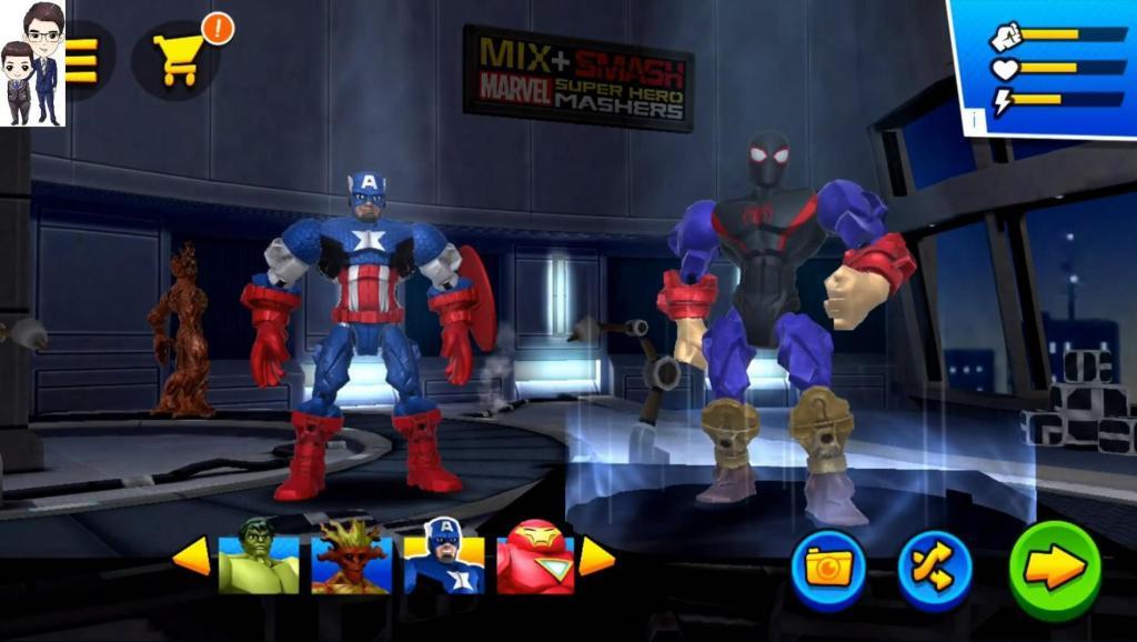 混乱破坏漫威超级英雄合体 浩克、红巨人、浩克终结者和树人格鲁特★超级英雄大乱斗