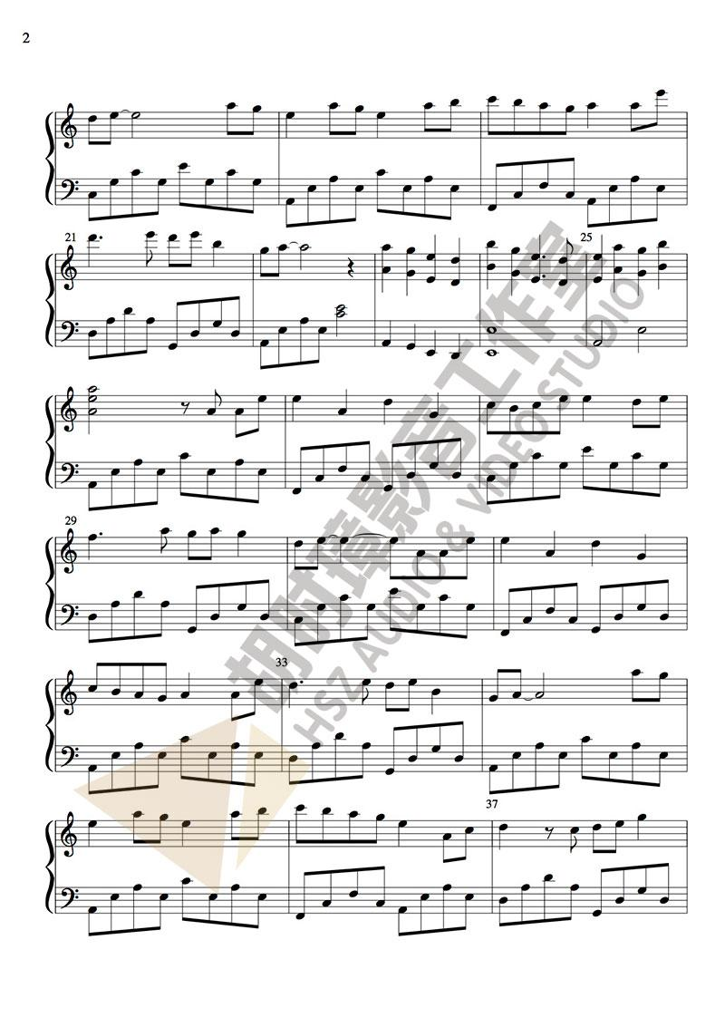 邓紫棋《桃花诺》钢琴谱-胡时璋影音工作室出品