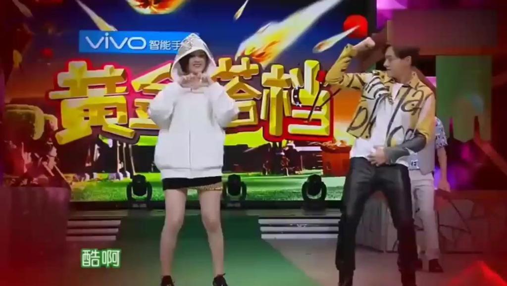 赵丽颖嘻哈尬舞PK陈伟霆,好有默契