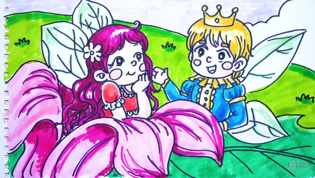 动物绘画教程 打开 神笔简笔画 中外童话故事 拇指姑娘,儿童绘画马克