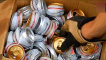 熔化啤酒易拉罐,用来制作发动机皮带轮,这动手能力真牛