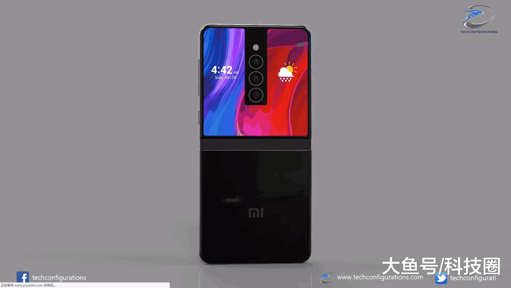 给出了一组小米MIX,Flex折叠屏手机的概念渲染图,,三摄布局让人惊讶(图3)
