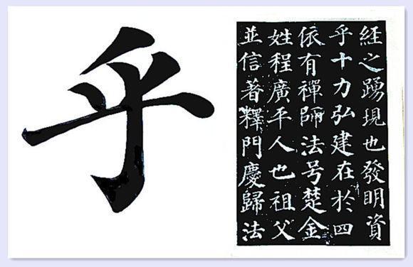 由于《多宝塔》原帖字体比较小,若2-3cm,我为了看清楚笔顺,特把原字