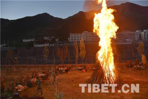 """""""双节"""", 武警西藏森林总队官兵这样过"""