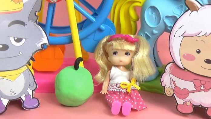 """孩之宝培乐多彩泥 和芭比小公主一起手工diy""""小苹果""""教程 黏土粘土"""