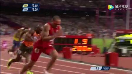 飞人博尔特伦敦奥运会200米轻松夺冠!最后竟然还减速了!