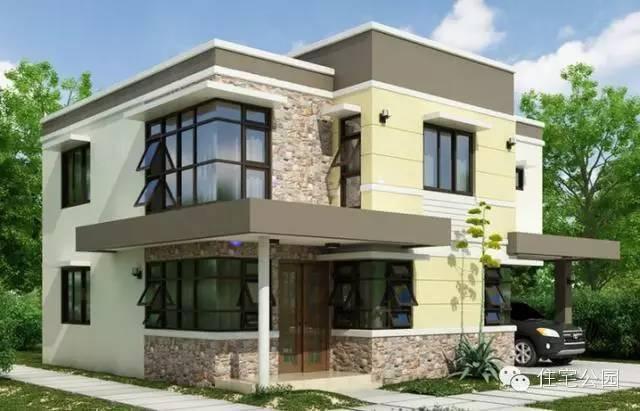农村别墅2层现代户型 只有80后90后才能接受