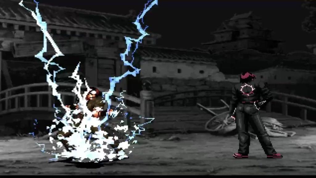 拳皇: 克隆草薙京VS蛇京 你们用火焰我用雷光拳