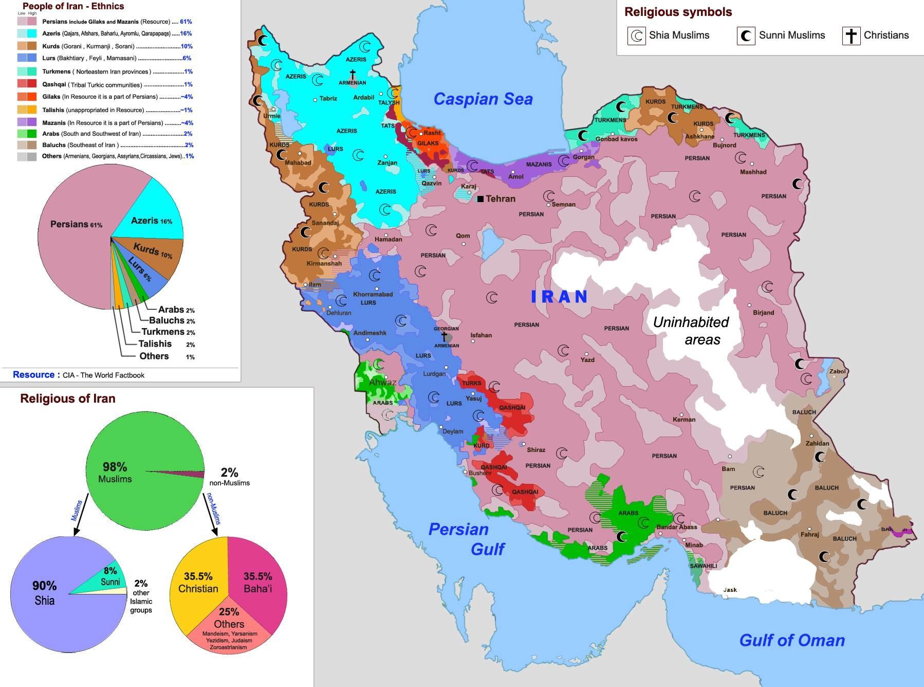 伊朗行政区划地图