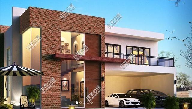 5套现代风自建房小户型, 简约时尚, 给家人盖一栋!