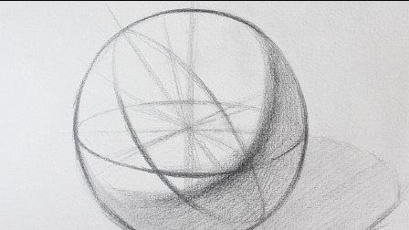 打开 打开 素描基础教程球体的结构画法 石膏几何体 打开 遮罩层